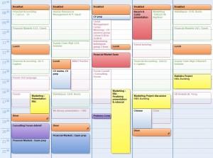 Mon calendrier de la semaine du 16 Novembre