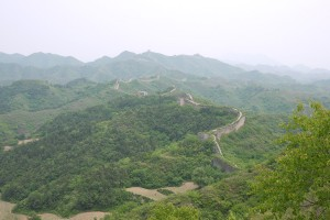Gubeikou (le fort en haut à droite était notre lieu de pause à la moitié du chemin)